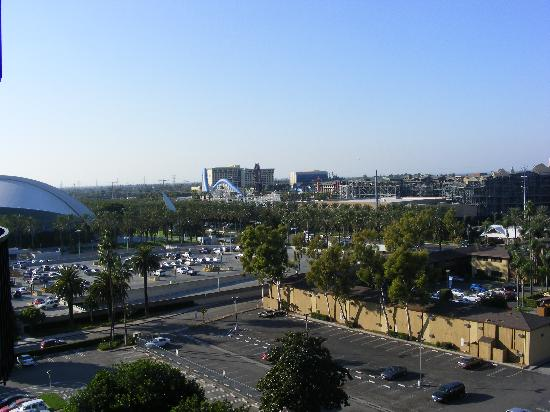 """Sheraton Park Hotel at the Anaheim Resort: View from 10th floor over """"Disney"""""""