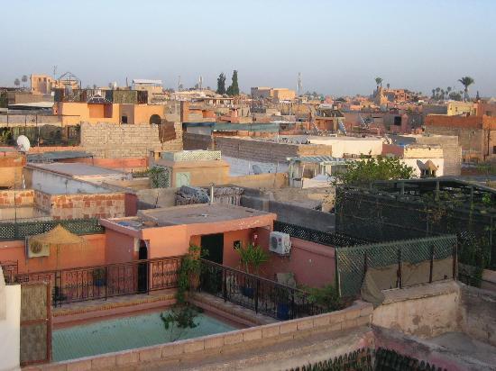 Hotel Sindi Sud: couché de soleil de la terasse du Sindi Sud