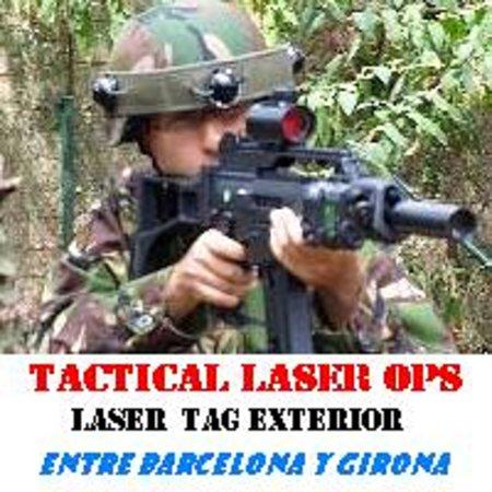 Maçanet de la Selva, España: Soldado Laser Ops Woodland