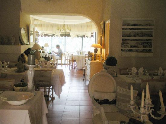 Beausejour : The romantic interior at Restaurant Beau Sejours, Gorbio
