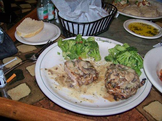 Carrabba's Italian Grill: Pollo Rosa Maria with brocolli