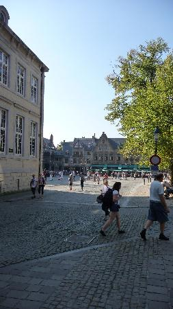 Crowne Plaza Brugge: Looking towards the Burg square rom the hotel front doors. & Looking towards the Burg square rom the hotel front doors ... Pezcame.Com