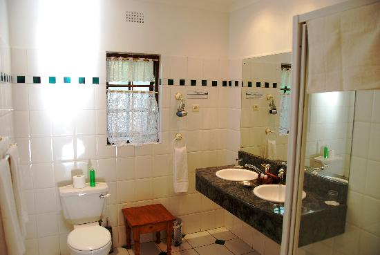 Hlangana Lodge: spacey bathroom !