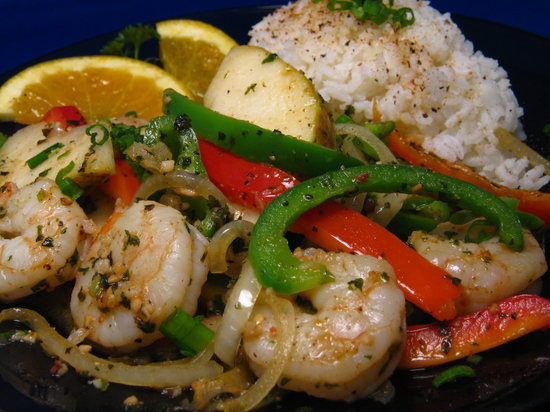 Mike's Seafood: Pepper Pear Prawns