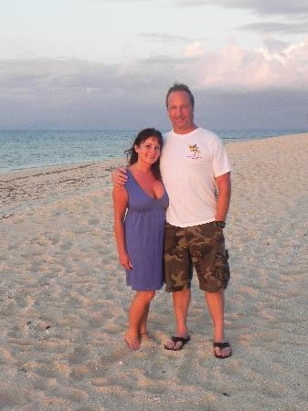 Tavarua Island Resort: On the beach at sunset just before dinner