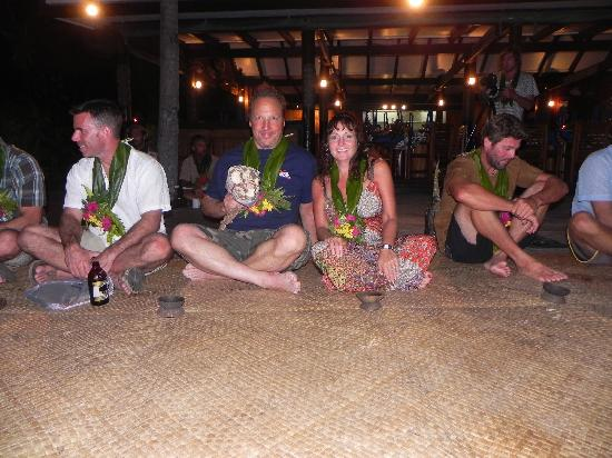 Tavarua Island Resort: The Kava ceremony.  Kava taste like mud, but drink it!