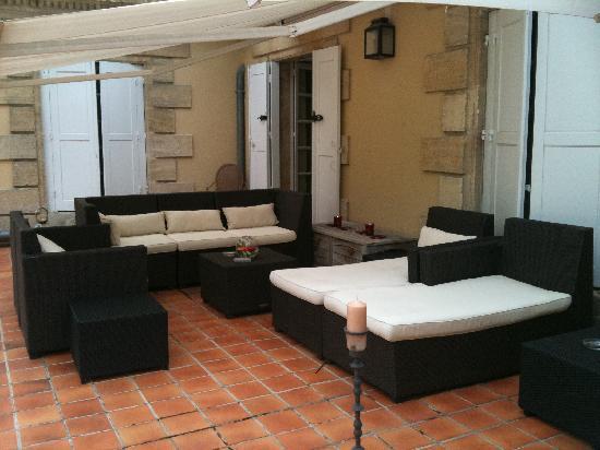 Domaine de Raba : la terrasse à côté de notre chambre