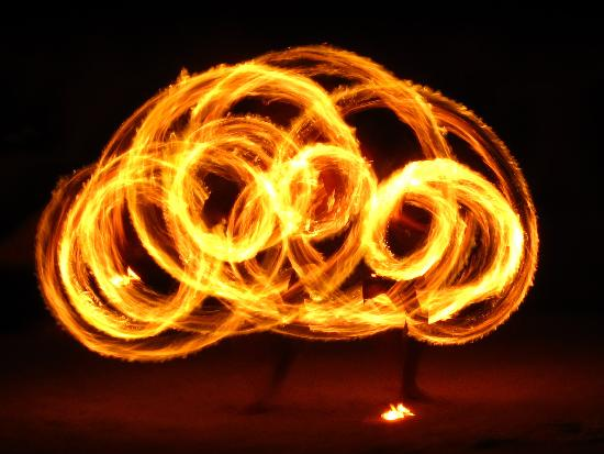 Likuri Island, Fiyi: Fire Dance (long exposure)