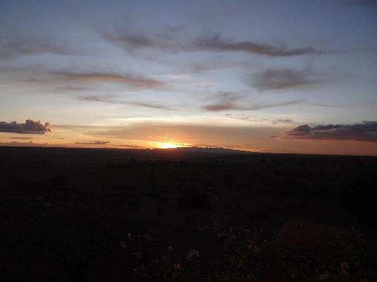 African Heritage House: Sunset over Ngong Hills and Nairobi National Park