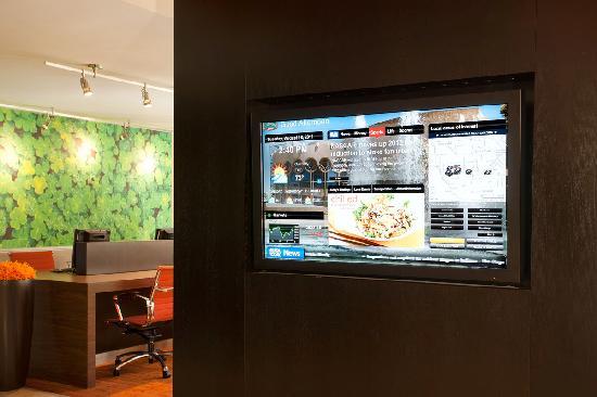 Courtyard San Jose Cupertino : GoBoard - Interactive lobby board.