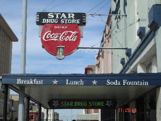 Star Drug Store: Outside signs