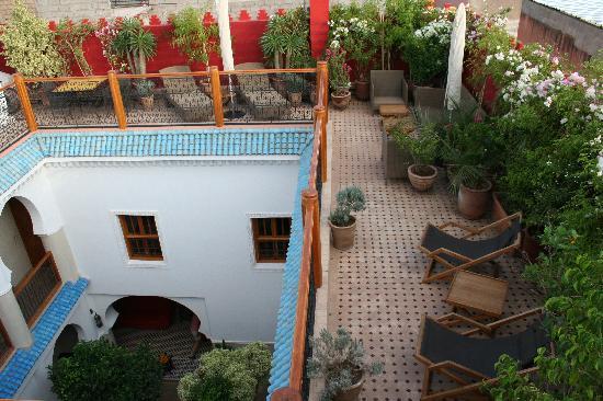 Riad Asrari: le riad vu de sa terrasse