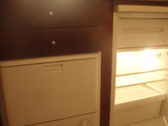 Citadines Toison d'Or Hotel: Lavavajillas+Nevera