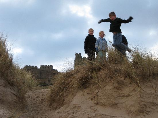 Outchester and Ross Cottages : Bamburgh dunes.