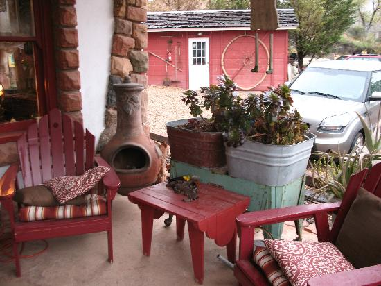 Under The Eaves: Fun porch for hanging out