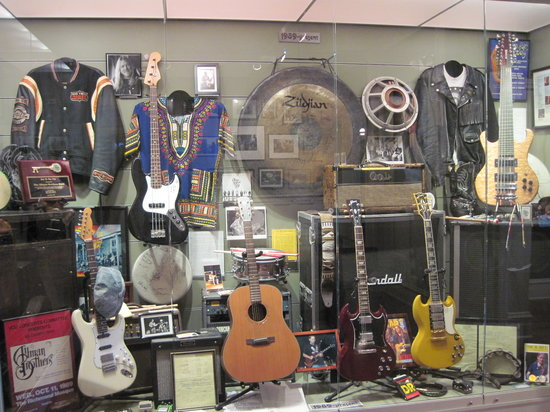 The Allman Brothers Band Museum at the Big House: Some items in museum