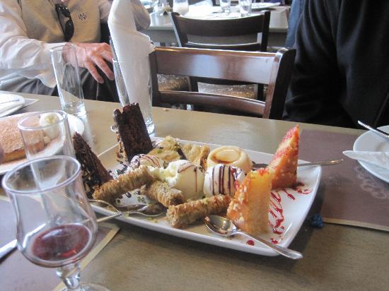 Vosporos: The dessert selection....