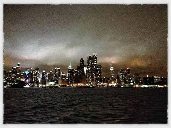 Homewood Suites by Hilton Edgewater - NYC Area: Nightly view from the ferry ride...