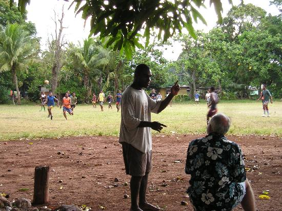 Tanoa Rakiraki Hotel: Befriending the locals playing island rugby