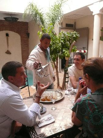 Hotel Riad Beldi : prmier moment de détente dans le riad