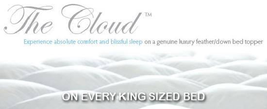 Marion Hotel: Cloud Toppers on every king bed