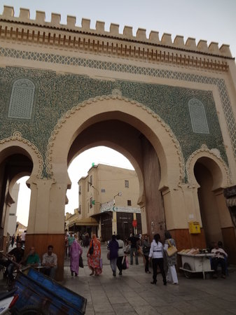 Fes, Morocco: Bab Bou Jloud - view from inside the medina