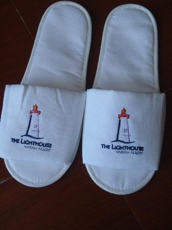 The Lighthouse Marina Resort: slippers