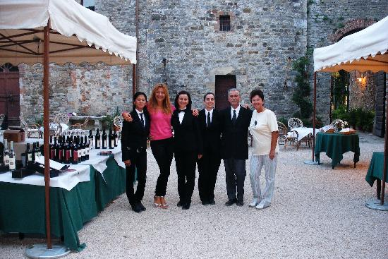 Serre di Rapolano, Italy: together with restaurant's staff