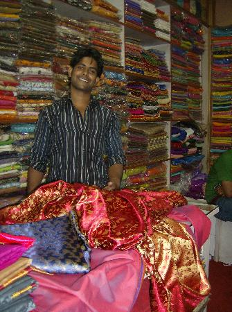 Krishna Textiles : Choosing my material for my punjab outfits with Ali