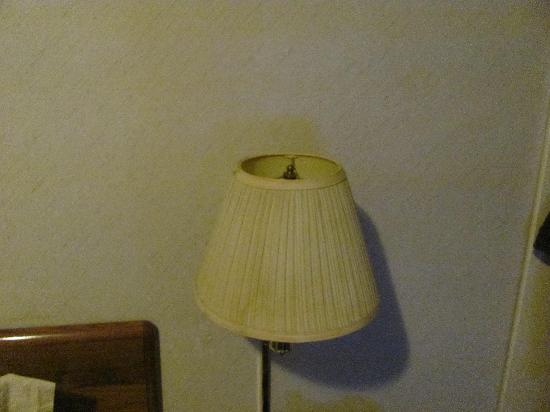 Days Inn Monticello: Stained lampshade - smoke?  I wasn't touching it and the base seemed loosely attached to the wal