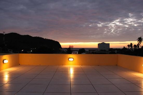 La Terraza Condominiums: the terrace in the evening