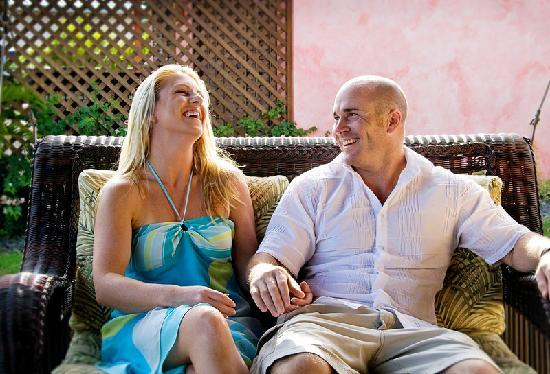 Le Phare Bleu Boutique Hotel & Marina: Sitting on the villa terrace