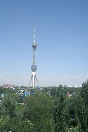 Torre de la Televisión de Tashkent: tower from tashkent land