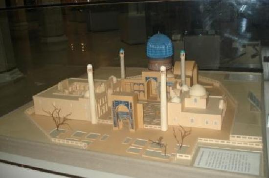 Amir Timur Museum : model of his mausoleum