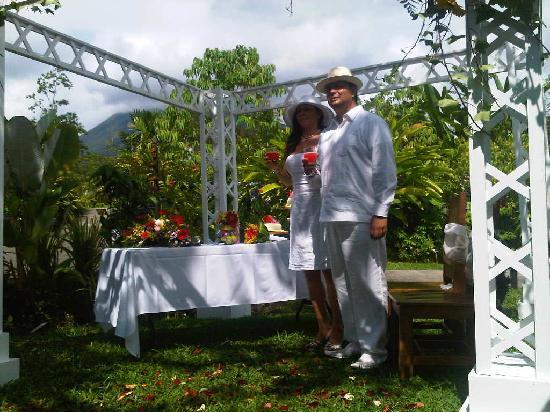 Casa Luna Hotel & Spa: Con el Majestuoso Volcan Arenal de Testigo