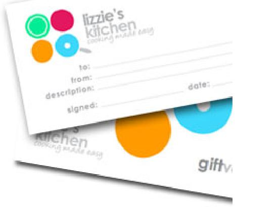 Lizzie's Kitchen: buy a gift voucher - any value