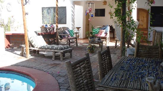 Baja Bed and Breakfast: Patio comun 2