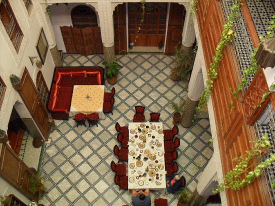 Riad Dar Dmana: vue de la salle principale