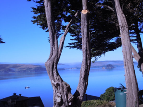 Inn on Tomales Bay: View of Tomales from North Room