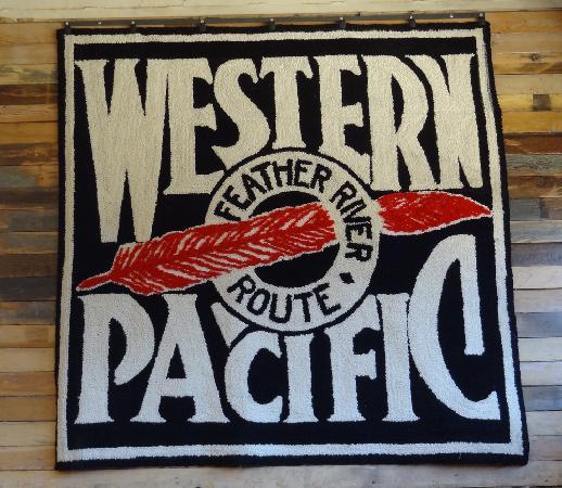 Portola, CA: Western Pacific Logo