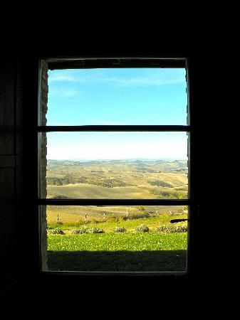 Podere Finerri: Veduta dalla finestra della camera da letto