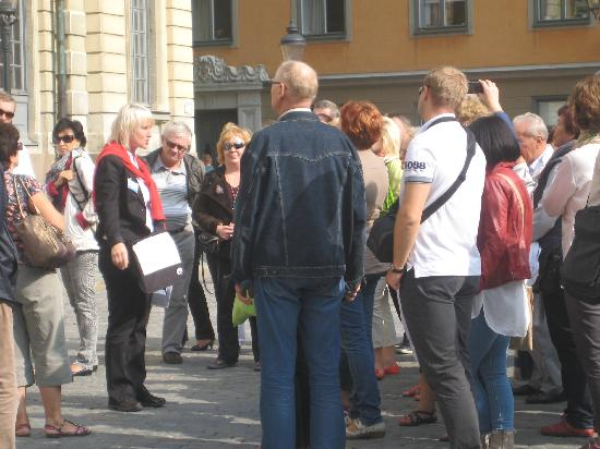 stoRy touRs: Old Town Walking Tour- in front of Nobel Museum