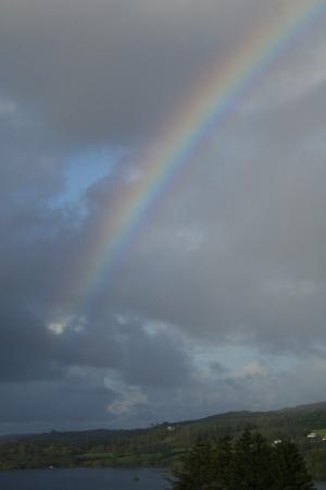 The Arches Country House: Rainbow over Lough Eske