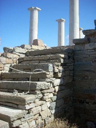 The stairway to the second floor can be clearly seen as you enter the House of Dionysus.