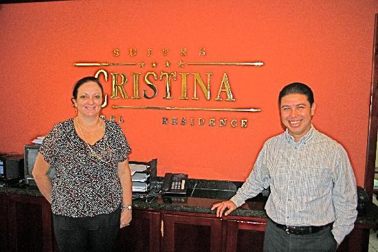 Apartotel Suites Cristina: Front Desk - Elizabeth & Sergio