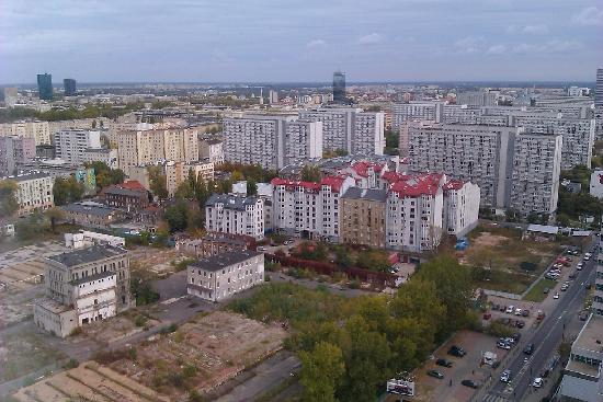 Hilton Warsaw Hotel & Convention Centre: View from my huge window.