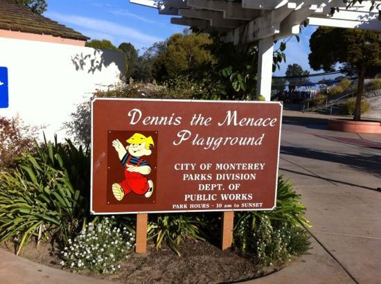 Dennis the Menace Park: The park sign
