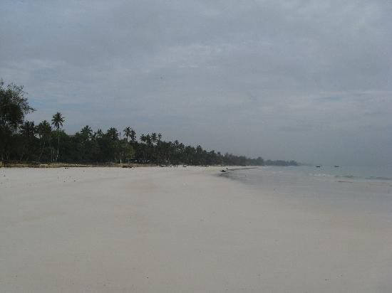 Galu Sea Lodge -Tamani: Pristine white sand - amazing