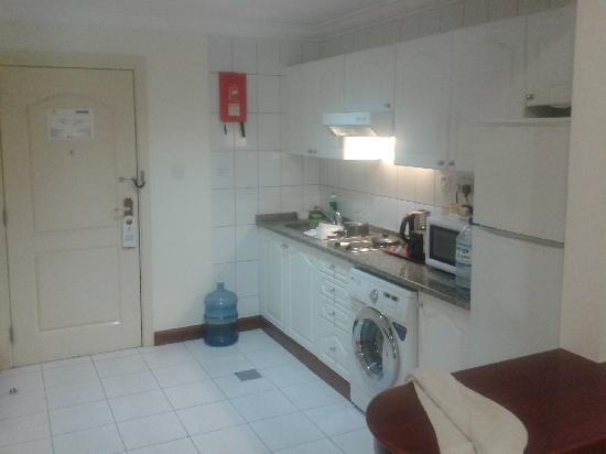 kitchen design with washing machine. Savoy Crest Hotel Apartments  Modular Kitchen With Washing Machine Hot Plate Picture Of