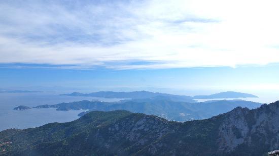 Monte Capanne: La parte orientale dell'Isola d'Elba
